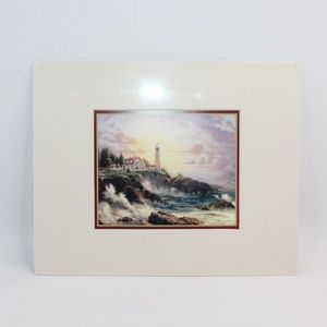 Clearing Storms by Thomas Kinkade Matted Print